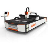 Machine de découpage de laser de fibre de commande numérique par ordinateur de pipe de tube en métal d'argent d'acier inoxydable des prix 1000W
