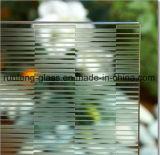 Vidro geado gravado ácido da alta qualidade com GV do Ce