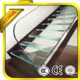 Trempé escalier en verre feuilleté de 8 mm/bâtiment Fence/ verre d'auvent en provenance de Chine