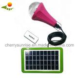 Набор освещения портативного Solar Energy фонарика системы перезаряжаемые солнечный с дистанционным управлением