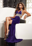 Sexy Halter Top 2011 Chiffion Evening Dress (JZ4339)