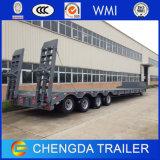 schwerer Geräten-Transport Lowbed Lowloader des Exkavator-4axles100ton halb LKW-Schlussteil