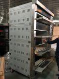 16 de Oven van de Pizza van het Dek van het Gas van dienbladen met Stoom en Steen (JM-416Q)