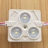 Módulo de injeção quadrado 3 chips LED SMD LED branco com lente
