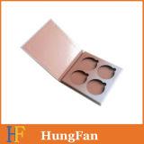 Rectángulo de regalo de empaquetado de papel del sombreador de ojos del maquillaje cosmético simple de la gama de colores