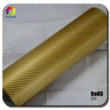 Обруч Tsautop Gold 3D Carbon Fiber Vinyl Car с Air Free Bubbles