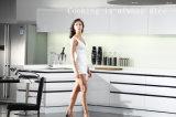 Gabinete de cozinha inteligente de alto brilho moderno branco