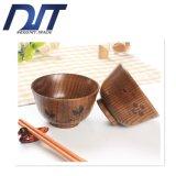 Utensílios de mesa de madeira amigáveis creativos diretos da bacia da borboleta de Eco da fábrica