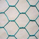電気電流を通された六角形の金網の網
