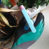 luvas revestidas do dobro do nitrilo 15gague, luvas do nitrilo de Sandy, luvas da resistência de petróleo,