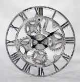 Домашний декор искусствоа часов стены металла формы шестерни Antique украшения