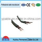 Del PVC de aislante del material gemelo completamente y cable eléctrico de la tierra (BVVB+E)