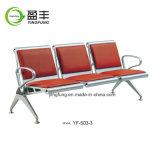 Metal YF-P03E-3 de la silla del ocio del visitante del hospital que espera público