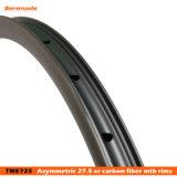 El chino la fibra de carbono MTB rueda de camino de los neumáticos tubeless 27,5er bicicleta llantas de Offset