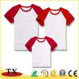 Maglietta di cucitura unisex di colore del manicotto lungo molle promozionale del cotone