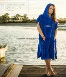 Горячая продажа ткань из микроволокна колпачковая Surf Poncho полотенце для взрослых