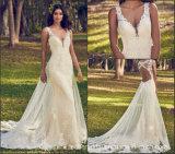 Sans manches robes de mariée robes de mariage dentelle Mermaid Perles Mz499