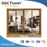 Porte coulissante de profil en aluminium commercial de garantie de Fuxuan 10years