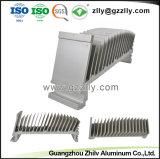 Disipador de aluminio extruido personalizado para el alumbrado público LED