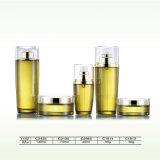 Botella de cristal clara cosmética del cuentagotas del perfume de la alta calidad con el rociador y la bomba finos de la niebla