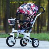 Triciclo plegable del bebé del triciclo de los cabritos de la alta calidad 4in1 para los niños