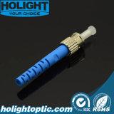 Connettore ottico della fibra della st con il caricamento del sistema blu per il cavo della zona