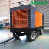 Compresor de aire rotatorio del tornillo de la potencia diesel usado para el astillero de la voladura de arena