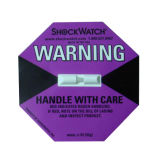Medida arriba sensible del choque del Shockwatch para el equipo mecánico