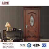 Portello di legno di vetro dell'oscillazione del salone per la casa