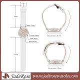女性のための極度の細いスライバ本革ストラップのステンレス鋼の腕時計