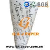 La compañía de buena calidad logotipo impreso en papel a prueba de grasa para la venta