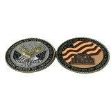 I militari antichi su ordinazione del pezzo fuso 3D del diametro del metallo commemorano la moneta di sfida