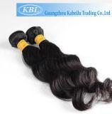 Натуральный продучт верхних перуанских человеческих волос (KBL-пэ-аш-LW)