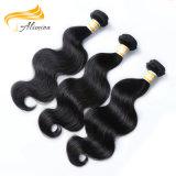 Природных необработанных заготовок высокого качества кривой тела волос Бразилии