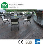 Decking en bois en plastique extérieur creux de 140*25 WPC