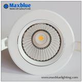 LED encastré Downlight LED CREE COB Fixture de plafond Spot encastrable avec pilote Meanwell réglable