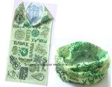 工場農産物のカスタムロゴプリント緑ポリエステル魔法の管状の首のゲートル