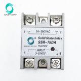 AC 반도체 계전기에 Worldsunlight SSR-75da 75A 3-32VDC 입력 24-380VAC 산출 DC