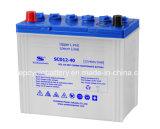 JIS 표준 12V 40ah는 비용이 부과된 자동차 배터리를 말린다