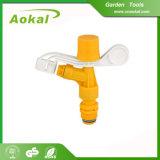 Spruzzatore di plastica del prato inglese di irrigazione a pioggia di impulso migliore per il giardino