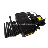 8 악대 GSM900/1800MHz+3G+4G 이동할 수 있는 Phone+GPS+Lojack+WiFi 신호 방해기 또는 차단제 또는 이동 전화 신호 절연체