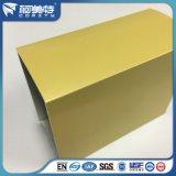 Polvo de metal del OEM que cubre el perfil de aluminio amarillo para la ventana de la puerta