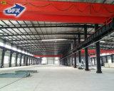 Oficina galvanizada da construção de aço do rolamento de peso elevado com guindaste