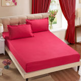 Os PCS 4 Cama King Size 50% poliéster 50% algodão carpete sheet elástica