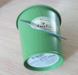 Jardin de godet de métal utilisé de la Citronnelle bougies avec étiquette personnalisée (GF013)
