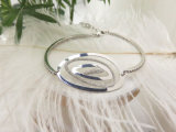 罰金によって個人化される光沢がある925純銀製のブレスレットの工場のための宝石類の製造業者