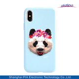 Caso del bordado de la célula de lujo del modelo/del teléfono móvil para el iPhone X 8 impresión más de la panda 8plus 7