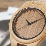 Reloj de madera natural de la alta calidad con la dial redonda para las mujeres