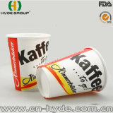 Taza de café de papel disponible con la impresión diseñada
