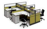 Credenza-Shell, 4 Personen-Sitzarbeitsplatz, moderne Büro-Ansammlung (SZ-WS179)